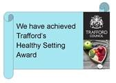 Trafford Healthy Setting Logo